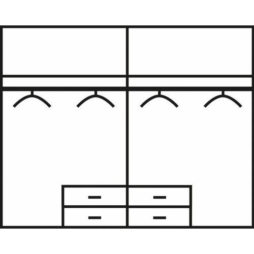 RAUCH penderie Freiham, Avec tiroirs