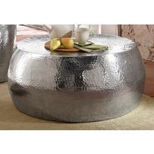 HOME AFFAIRE table basse Aluci, en bel aluminium, aspect martelé, hauteur 29,5 cm