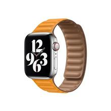 APPLE 40mm Leather Link - Horlogebandje voor smart watch maat S/M Californische klaproos (38 mm, 40 mm)