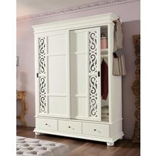 HOME AFFAIRE armoire à portes coulissantes Arabeske, avec de belles moulures décoratives sur les façades des portes, 2 largeur 160 cm