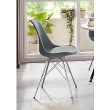 HOMEXPERTS chaise de salle à manger Ursel 03, lot 2, (2 pièces), coque siège aveccoussin en cuir synthétique