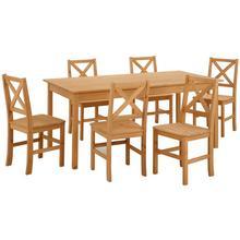 HOME AFFAIRE ensemble de salle à manger Marta, lot 7, avec une grande table