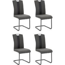HELA stoel zonder achterpoten Amber, 4-delig, (Set van 2 of 4), overtrokken met weefstof