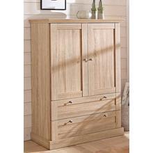 HOME AFFAIRE armoire multifonctions Binz, brille dans un bel aspect bois, avec de nombreuses possibilités rangement, hauteur 130 cm