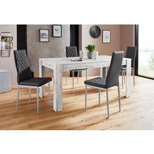 ensemble de salle à manger Lynn160/Brooke, lot 5, Table avec 4 chaises