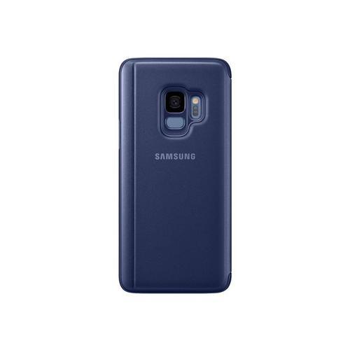 SAMSUNG Clear View Standing Cover EF-ZG960 - Protection à rabat pour téléphone portable bleu Galaxy S9, S9 Deluxe Edition