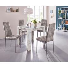 """ensemble de salle à manger 0, lot 5, avec table """"Lynn"""", largeur 80 cm et 4 x chaise""""Kate"""