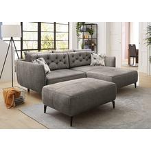 JOCKENHOFER GRUPPE canapé d'angle, de style rétro avec ressorts Nosag et positionlibre dans l'espace