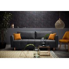 INOSIGN canapé lit Nordic metallic, avec bloc ressorts et pieds métalliques, matelassage dans la zone du siège