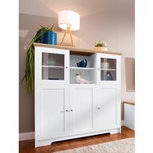 HOME AFFAIRE meuble haut Nanna, en feuilles de surface thermodurcissables aspect chêne, largeur 118 cm