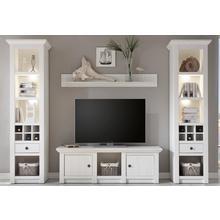 HOME AFFAIRE meuble mural California, lot de 4, composé 2 étagères sur pied, d'un TV, d'une étagère murale