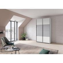RAUCH armoire à portes flottantes Quadra, avec des éléments en verre