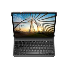 LOGITECH Slim Folio Pro - Clavier et étui rétroéclairé Bluetooth AZERTY Français pour Apple 11-inch iPad (1ère génération, 2e génération)