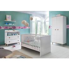 set complet pour chambre de bébé Cannes, lot 3, Lit + commode à langer 2 portes Armoire