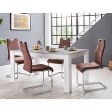 HOMEXPERTS ensemble voor eettafel Zabona, 5-delig, 4 stoelen en 1 tafel