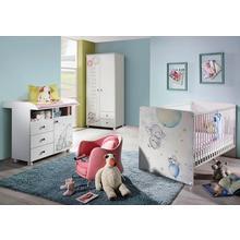 RAUCH set complet pour chambre de bébé Vancouver, lot 3, Lit + commode à langer 2portes Armoire