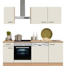 OPTIFIT bloc de cuisine Odense, sans appareil électrique, largeur : 210 cm avec un plan travail 28 mm d'épaisseur
