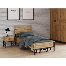 INOSIGN bed Aubetin, , mooie materialenmix van hout en metaal