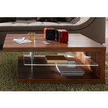 RAUM.ID table basse, avec éclairage LED, sur roues
