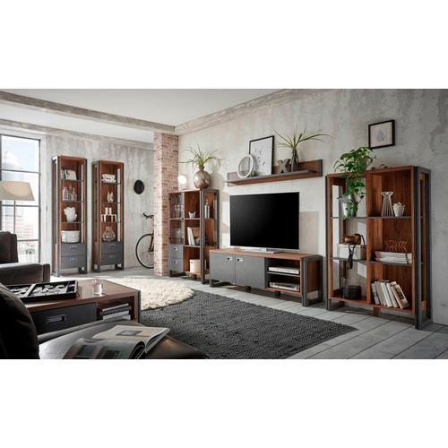 HOME AFFAIRE highboard Detroit, Met 2 laden, hoogte 140 cm, in trendy industriële look