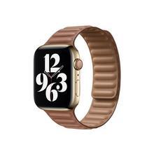 APPLE 44mm Leather Link - Horlogebandje voor smart watch maat S/M lederbruin (42 mm, 44 mm)