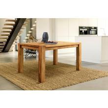 HOME AFFAIRE table de salle à manger Tim, en bois chêne massif, disponible cinq largeursdifférentes
