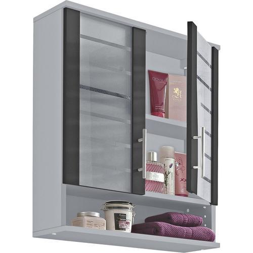 SCHILDMEYER armoire suspendue Nikosia, Largeur 60 cm, avec portes vitrées