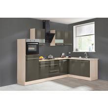 OPTIFIT cuisine d'angle Bern, sans appareil électrique, largeur de réglage 285 x 175 cm, avec pieds réglables en hauteur, portes et tiroirs à fermeture amortie, poignées métalliques