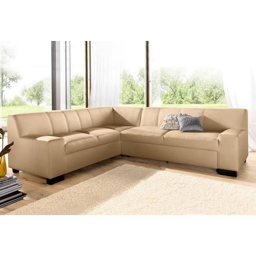 DOMO COLLECTION canapé d'angle, avec fonction lit en option