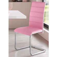 chaise en porte-à-faux Adora, lot de 2, (2 ou 4 pièces) Housse cuir synthétique, cadre métal chromé
