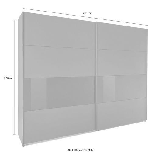 WIMEX armoire à portes flottantes Bramfeld, avec éléments en verre et étagères supplémentaires