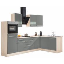OPTIFIT cuisine d'angle Bern, sans appareil électrique, largeur de réglage 285 x 175cm, avec pieds réglables en hauteur, portes et tiroirs à fermeture amortie, poignéesmétalliques