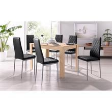 ensemble de salle à manger, lot 5, avec une table aux couleurs du chêne scié brut, largeur 120 cm