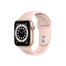 APPLE Watch Series 6 (GPS) - 40 mm or-aluminium montre intelligente avec bande sport fluoroélastomère sable rose taille du bracelet : S/M/L 32 Go Wi-Fi, Bluetooth 30.5 g