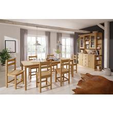 HOME AFFAIRE ensemble de salle à manger Indra, lot 7, Table 160 cm large