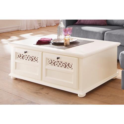 HOME AFFAIRE table basse Arabeske, avec de belles moulures décoratives, pieds boules en bois, largeur 120 cm