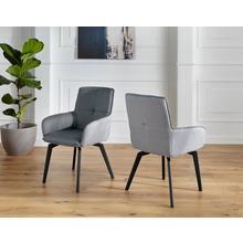 DUO COLLECTION chaise de salle à manger Pia, Ensemble 2, bicolore