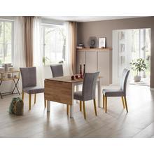 HOME AFFAIRE table de salle à manger Samba, Largeur 120 cm, avec plateau rabattable