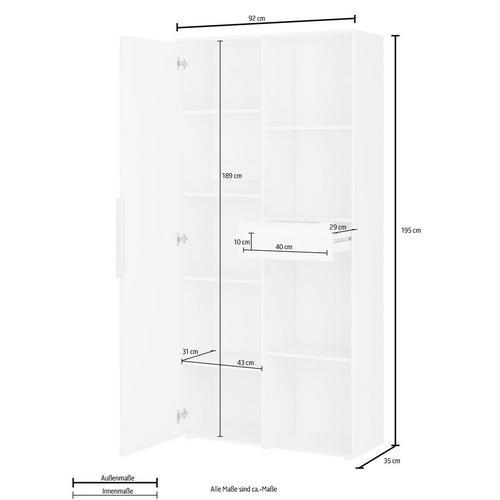 BORCHARDT MOBEL armoire à dossiers Kai, Hauteur 195 cm