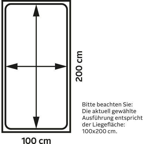 WESTFALIA SCHLAFKOMFORT lit rembourré, en 2 hauteurs de couchage et divers motifs