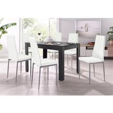 ensemble de salle à manger Lynn + Brooke, lot 5, 4 chaises avec table en ardoise, largeur 120 cm