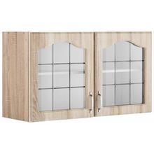 WIHO KUCHEN armoire pour suspendre les verres Linz, 100 cm de large, avec 2 portes vitrées