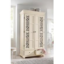HOME AFFAIRE armoire à portes pivotantes Arabeske, en partie bois massif avec de beaux ornements sur les façades des