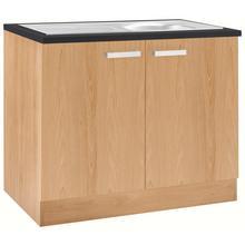 OPTIFIT meuble d'évier Odense, avec évier encastré en acier inoxydable