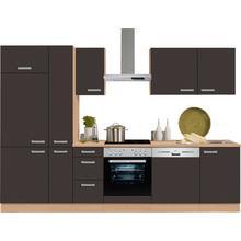 OPTIFIT bloc de cuisine Odense, sans appareil électrique, largeur : 300 cm avec un plan travail 28 mm d'épaisseur