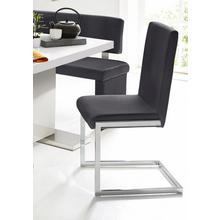 HOMEXPERTS chaise de salle à manger Charisse ISSE, lot 2, (2 pièces), housse en cuirsynthétique