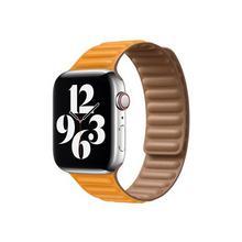 APPLE 44mm Leather Link - Horlogebandje voor smart watch maat M/L Californische klaproos (42 mm, 44 mm)