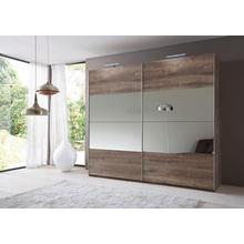 WIMEX armoire à portes flottantes Easy, avec miroir partiel