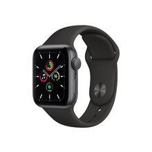 APPLE Watch SE (GPS) - 40 mm espace gris en aluminium montre intelligente avec bande sport fluoroélastomère noir taille de 130-200 S/M/L 32 Go Wi-Fi, Bluetooth 30.49 g
