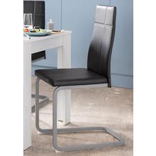 HOMEXPERTS chaise de salle à manger Cross 02, lot 4, (2 ou 4 pièces), housse en cuir synthétique